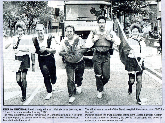 3338Stead Hospital Patrons of Fairway Pub Dormanstown July 1986