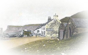 3772 Ship Inn Cafe with Lifeboat Station and Mortuary on right